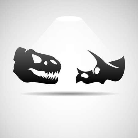 mesozoic: Dinosaurs skulls icon