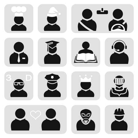 driver cap: People icons set
