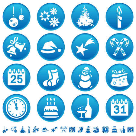 xmass: Christmas and New Year icons