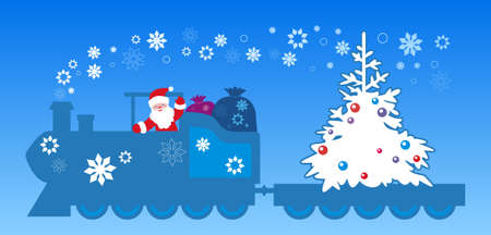 Santa claus train Vector