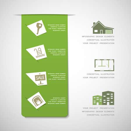 estate planning: Real estate infographic design elements Illustration