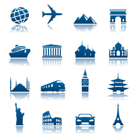 bigben: Sights and transportation icon set
