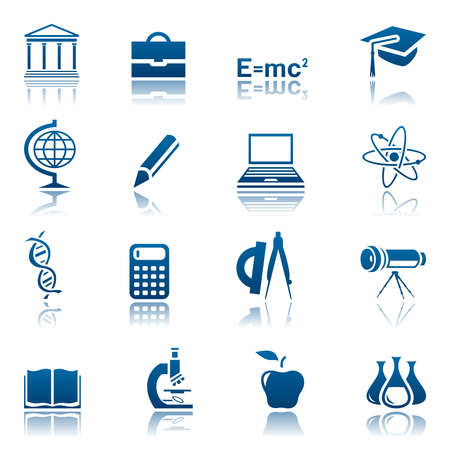 protractor: Science and education icon set