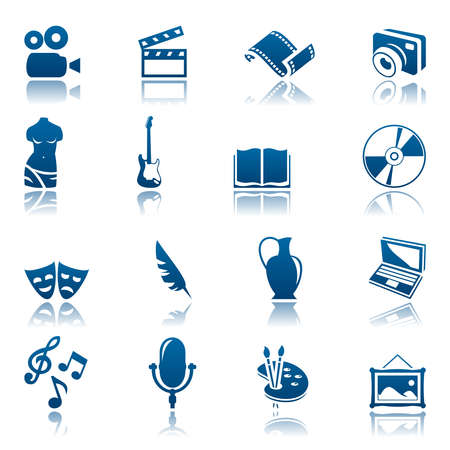 pastime: Art and hobby icon set