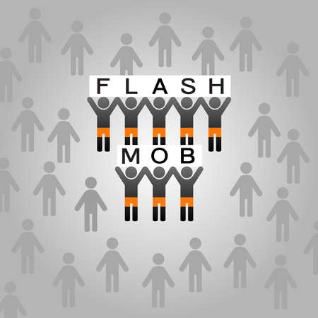 mob: Flash mob Illustration