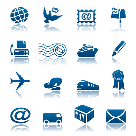 Mail and delivery icon set
