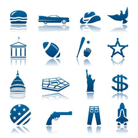 capitol: American symbols icon set Illustration