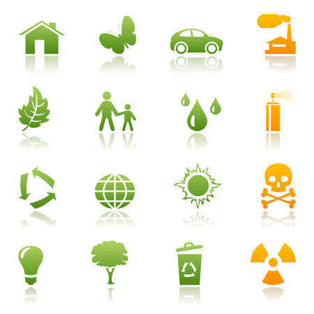 Ecological icon set Vector