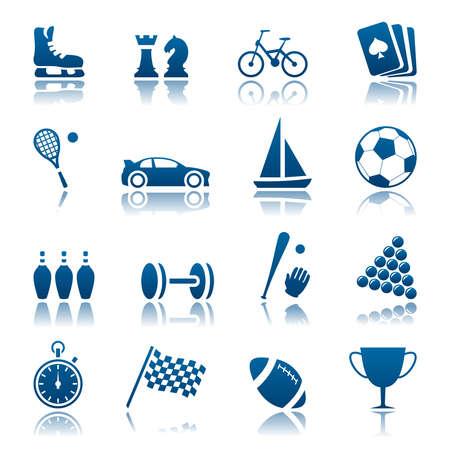 Sport and hobby icon set Stock Illustratie