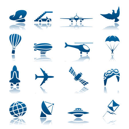 fallschirm: Aircraft Icon-Set