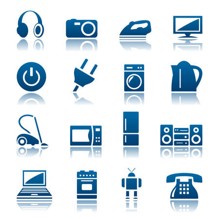 appliances: Home appliances icon set