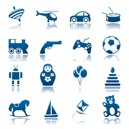 nested: Toys icon set