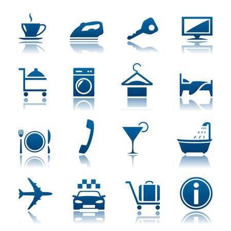 espresso machine: Hotel and vacations icon set