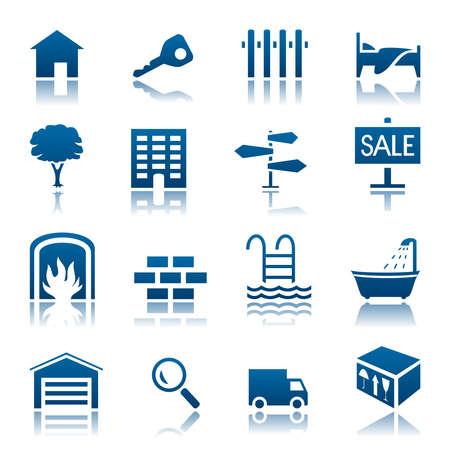 real: Real estate icon set