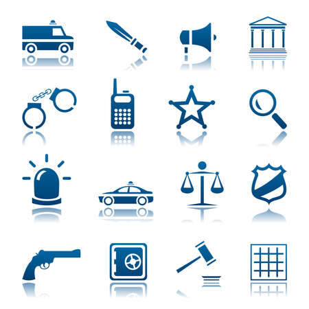 talkie: Law and order icon set