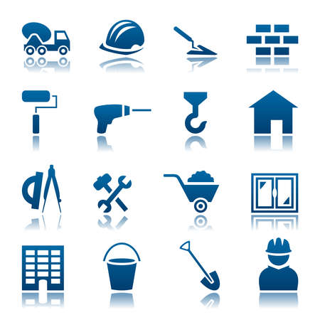 Bouw icon set Stock Illustratie