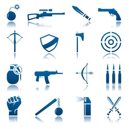 armbrust: Waffen-Icon-Set Illustration
