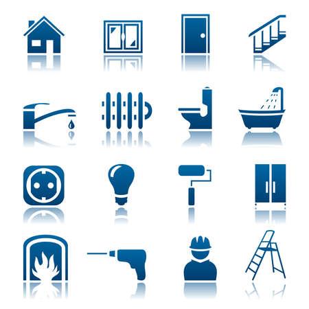 House repair icon set