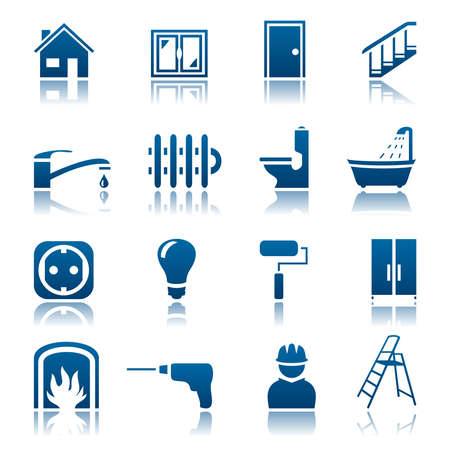 Huis reparatie icon set Stockfoto - 35071855