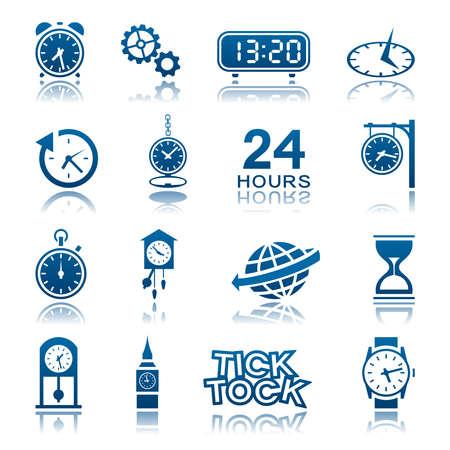 reloj de sol: Aparatos de relojería conjunto de iconos