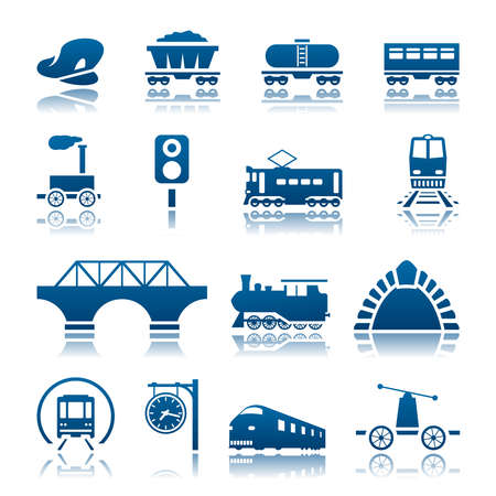 cargo train: Railway icon set
