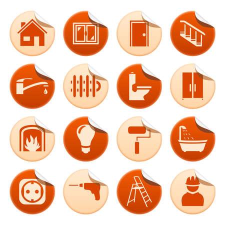 waterpipe: House repair stickers Illustration