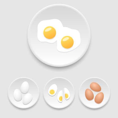 vector eggs: Eggs icons Illustration