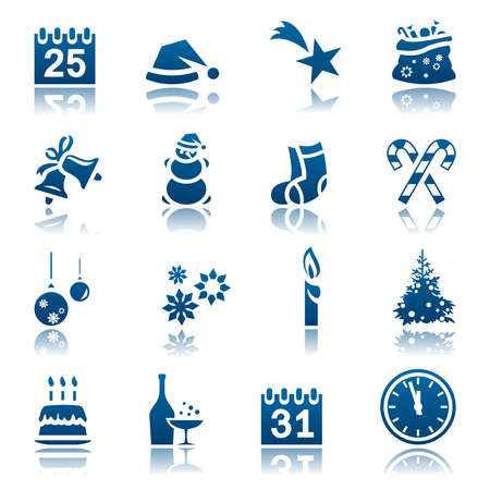 new icon: Christmas and New Year icon set