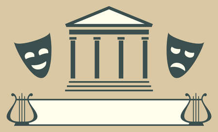 theatre: Theatre emblem Illustration