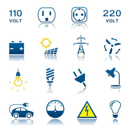 powerlines: Electric icon set