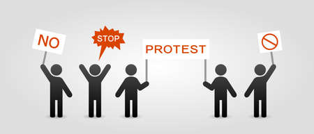 discontent: Protest icon Illustration