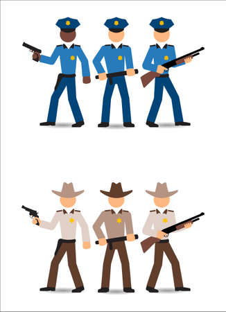 officers: Police officers and sheriffs