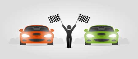 street racing: Street racing Illustration