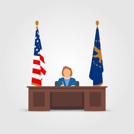 señora: presidente de la señora en la Oficina Oval