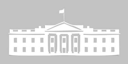 governmental: Paper white house Illustration