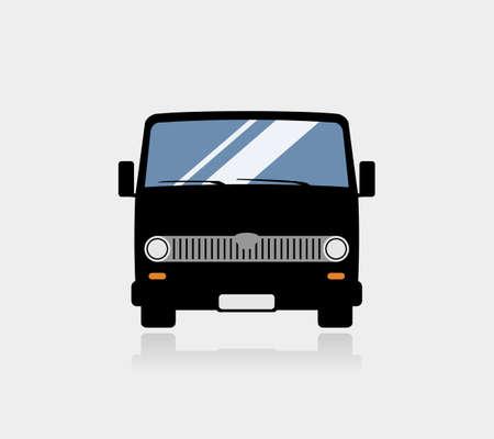 Retro minibus icon