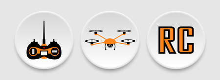 RC drone icons