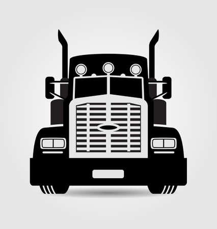 일반 세미 트레일러 트럭 일러스트