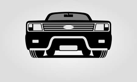 Generic suv car with bullbar