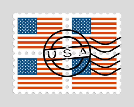 American flag on postage stamps