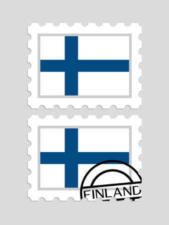 Finnish flag on postage stamps