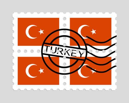 Turkish flag on postage stamps