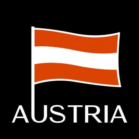 Austrian flag Standard-Bild - 96619813
