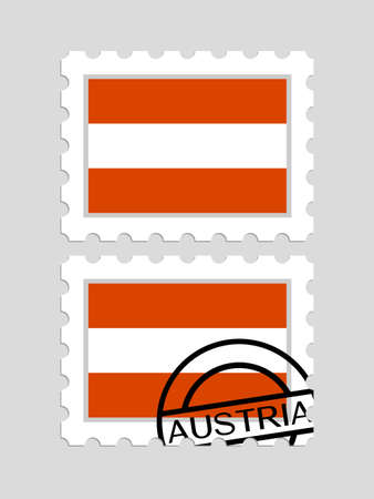 Austrian flag on postage stamps