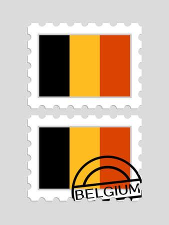 Belgian flag on postage stamps