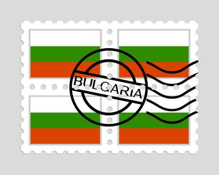 Bulgarian flag on postage stamps