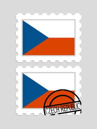 Czech flag on postage stamps