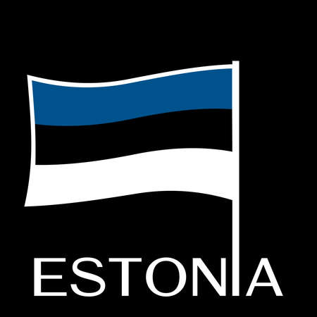 A Estonian flag isolated on plain background.
