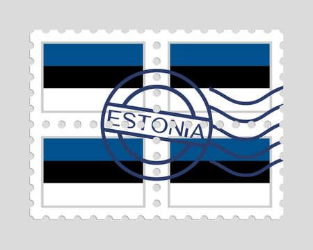郵便切手のエストニア国旗