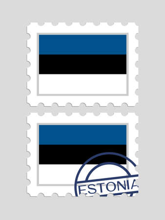 郵便切手にエストニアの旗